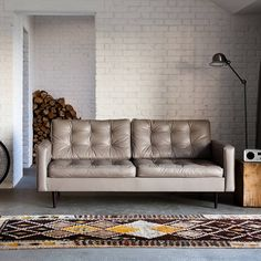 'harper' leather sofa by love your home for less | notonthehighstreet.com