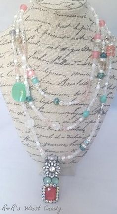 Dainty Girl Beaded Statement Necklace by RandRsWristCandy on Etsy, $20.00