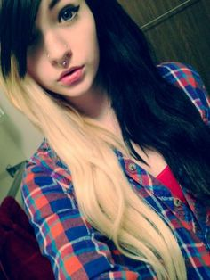 blonde & black