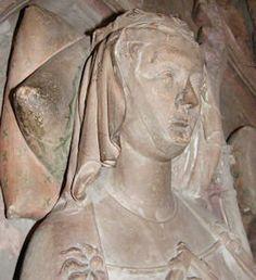Queen Anna of Hapsburg 1281  Switzerland Basel Münster, detalle