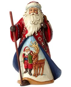 Jim Shore Lapland Santa with Reindeer and Santa Scene Collectible Figurine - Holiday Lane - For The Home - Macy's