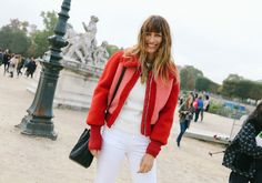 From newsboy caps to glossy crimson lips, Phil Oh captures the best street style beauty looks from Paris Fashion Week.