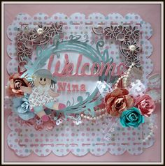 Mini �lbum to Nina - Scrapbook.com Chipboards Zarza Laser