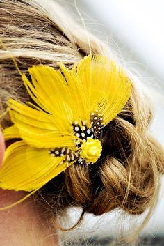 yellow hair accessory
