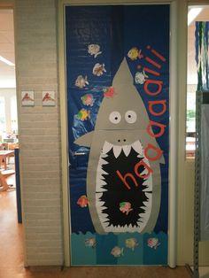 Deur van onze klas. Thema onder waterwereld/ de mooiste vis van de zee