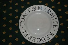 Early rare Emma Bridgewater 'Toast and Marmite' plate - sample prototype (11/04/2012)
