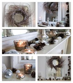 Christmas home tour. Xmas decoration in silver and white with lots of natural elements. Mostly homemade, crafted and thrifty. Be inspired. http://www.songbirdblog.com