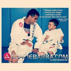 """Always make those around you happy and keep a smile to all people who talk to you."" -Master Carlos Gracie Sr. #graciebarra #jiujitsu"
