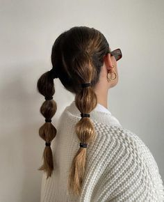 Hair Day, My Hair, Hair Inspo, Hair Inspiration, Cabelo Inspo, Aesthetic Hair, Aesthetic Grunge, Trendy Hairstyles, Pigtail Hairstyles