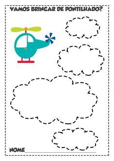 São atividades bastante lúdicas que mexem com a imaginação da criança. Ela pode imaginar histórias a partir das figuras e você também pode... Preschool Worksheets, Kindergarten Activities, Tracing Shapes, Pre Writing, Elementary Education, Fine Motor Skills, Coloring Pages, Diy And Crafts, Homeschool