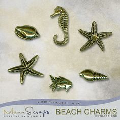 CU Beach Charms | CU/Commercial Use #digital #scrapbook design tools at CUDigitals.com #digitalscrapbooking