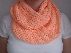 Light Coral Infinity Scarf by ScarfGuru on Etsy, $10.00. Love this color!!!!