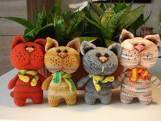 PDF Котик. Бесплатный мастер-класс, схема и описание для вязания игрушки амигуруми крючком. Вяжем игрушки своими руками! FREE amigurumi pattern.