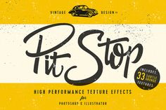 PitStop - Subtle Texture Effects by Vintage Design Co. on Creative Market
