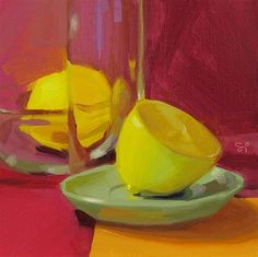 "Daily Paintworks - ""One and a half lemones"" - Original Fine Art for Sale - © Istvan Schaller"