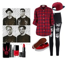 """Fall Out Boy"" by tierraf1400 ❤ liked on Polyvore featuring Casetify, Vans, Glamorous, NIKE, Giorgio Armani, Chanel and NARS Cosmetics"