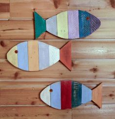 Painted Fish Wall Hanging 17 home decorating by BeachWallDecor