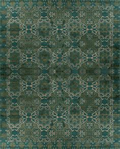 Capistrano, bright teal – This collection combines traditional patterns with a modern day aesthetic to create perfect designs for a transitional style.  These classically refined and ethically crafted Tibetan rugs combine the unique style and unequaled craftsmanship that New Moon is best known for.