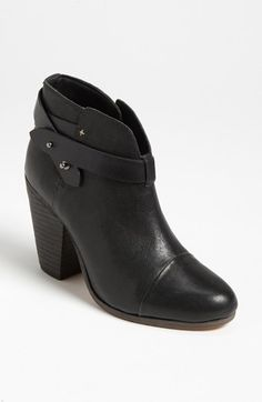 perfect bootie shape, rich black, mini slit in the front will elongate legs - rag and bone_a dream at $495