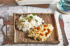 Kapros tejfölös sajtos csirke rizzsel Lasagna, Bread, Ethnic Recipes, Yum Yum, Food, Lasagne, Essen, Breads, Baking