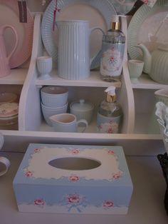 GreenGate stoneware Alice and tissue box Betty