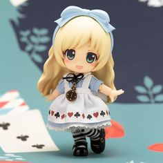 Cute Anime 10CM Alice in Wonderland Alice Nendoroid Action Figure Real Clothes Ver. Alice Doll PVC figure Toy Brinquedos #Affiliate