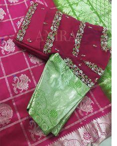 Baby dress design indian 15 Ideas for 2019 Cutwork Blouse Designs, Wedding Saree Blouse Designs, Pattu Saree Blouse Designs, Blouse Neck Designs, Lehenga Blouse, Lehenga Designs Simple, Simple Blouse Designs, Maggam Work Designs, Baby Dress Design