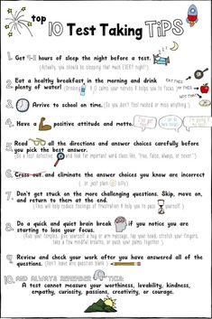 Test Prep Strategies: Student Success & Managing Stress Testing Tips Lesson/Game Test taking tips and testing strategies for student success and managing stress. Great for lessons and small groups. High School Hacks, Life Hacks For School, School Study Tips, Middle School Tips, College Study Tips, Test Taking Skills, Test Taking Strategies, Test Strategy, Exams Tips