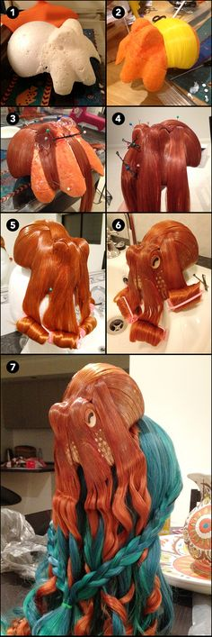 Fantastic DIY Octopus Hair Piece - Great for DIY Halloween Costumes and Sci-Fi Parties!