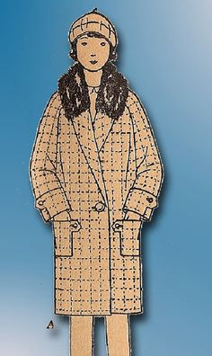 1920s ORIGINAL Stellar Butterick Unused Little Girls Flapper Coat Pattern