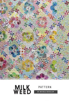 Milkweed Pattern by Michelle McKillop- LOVE the flowers!