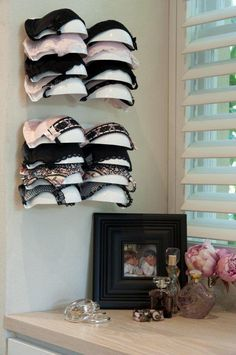 I have not found any how to's for this. diy bra storage | Display your bras in colour selections with Bra-Voe, bra storage ...