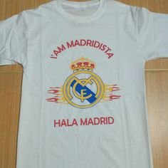 Custom iam madridista white tee.