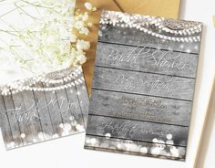 and More; Print at Home Birthdays Shabby Chic Mason Jar Thank You Card;  Rustic Burlap Chalkboard and Woodgrain Looks for Weddings,Showers