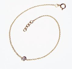Solitaire diamond and 18k gold bracelet Diamond by bellallure, €257.00