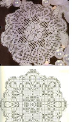 Kira scheme crochet: Scheme crochet no. Crochet Dollies, Crochet Buttons, Crochet Doily Patterns, Thread Crochet, Crochet Motif, Crochet Designs, Crochet Lace, Crochet Stitches, Free Crochet