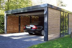 As we know the main function of The Carport Design is as a car shelter. But it also can serve as a terrace page or may be just to add value to beautify the home display. Carport usually is located at the outside in front of the House. Carport Designs, Garage Design, House Design, Pergola Designs, Door Design, 2 Car Carport, Carport Plans, Enclosed Carport, Portable Carport