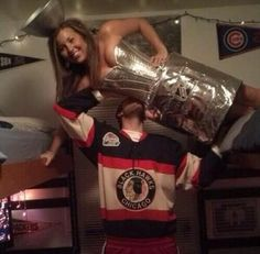 Hockey player and Stanley cup