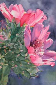 Cholla Cactus water color via nmwatercolorsociety.org
