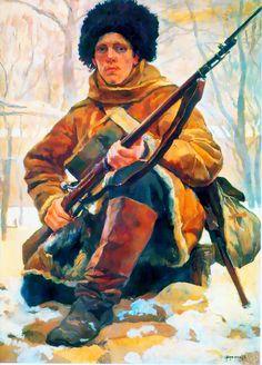 Russian Soldier, 1900s- by Rudolf Rudolfovich Frentz