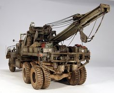 M1A1 American 6x6 Heavy Wrecker 1/18 Scale Model