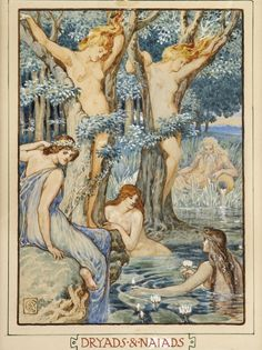 poboh: thefindesiecle: Dryads & Naiads by Walter Crane. [via:missfolly]