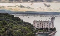 """eccellenze-italiane: """"Trieste: Castello di Miramare e regata della Barcolana """""""