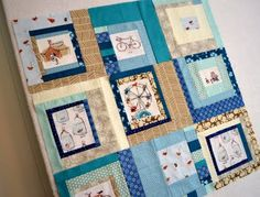 Blue Improv blocks; like how it starts small, some centers repeat, simple color scheme