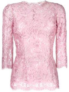 Dolce & Gabbana Blusa com renda floral