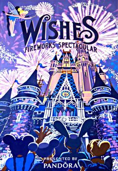 Wishes fireworks at the Magic Kingdom! A must-see for everyone, they show them every night!