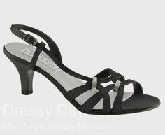 Donetta Women's Dress Shoes and Bridesmaid Shoes in Black : BWS0416