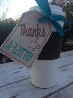Gift Tag Thanks ALatte Coffee Hostess Gift by isabelasribbons, $5.00