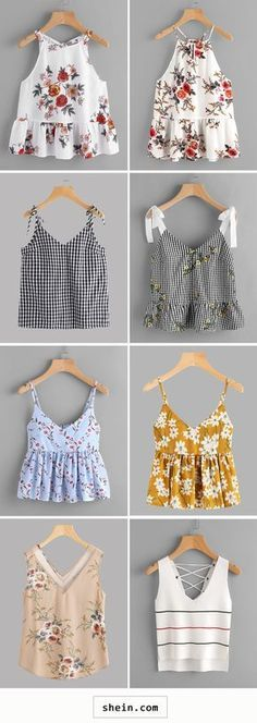 Now it seems current trend to become revived happens to be the diverse camis dress look. Diy Fashion, Teen Fashion, Ideias Fashion, Fashion Outfits, Trendy Outfits, Summer Outfits, Cute Outfits, Cami Tops, Diy Clothes