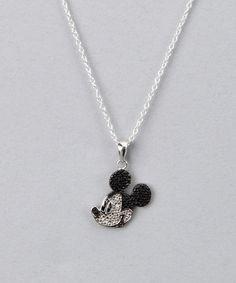 Black & White Diamond Mickey Necklace by Disney